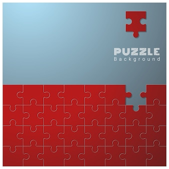 Abstract conceptual background with incomplete jigsaw puzzle