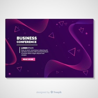 Abstract conference landing page template
