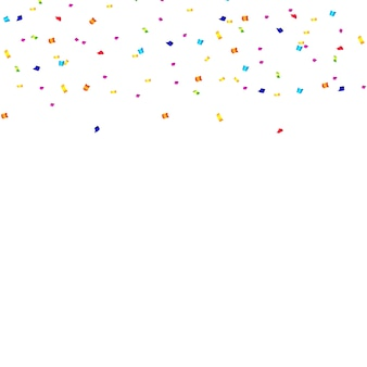 Abstract confetti background with polka dot confetti.