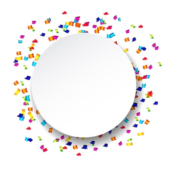 Abstract confetti with polka dot confetti.