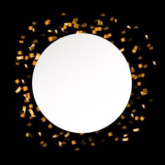 Abstract confetti with polka dot confetti.