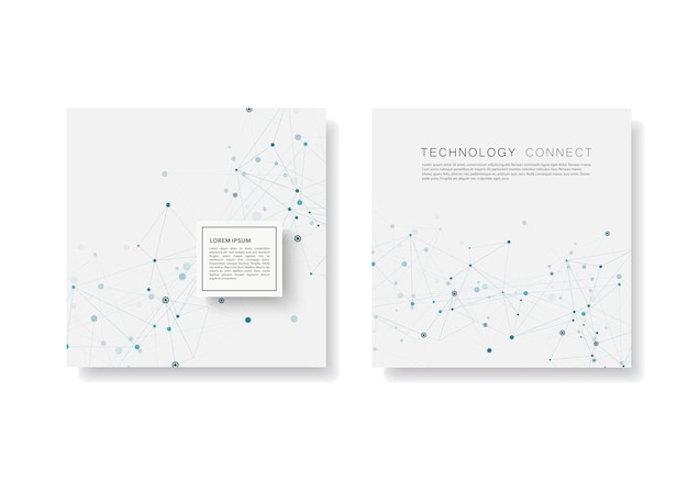 Abstract connect background with connected lines and dots. modern  templates brochure