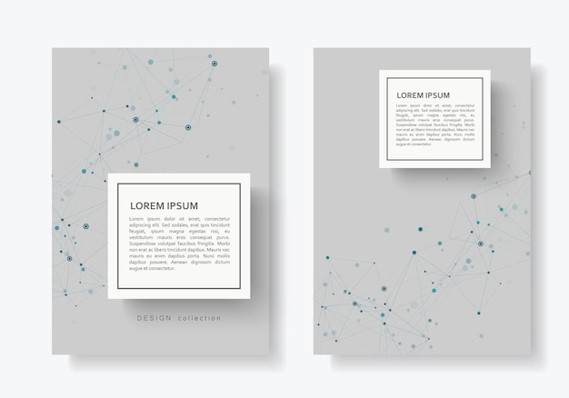 Abstract connect brochure with connected lines and dots