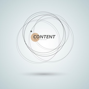 Abstract connect circle design background. creative abstract shapes