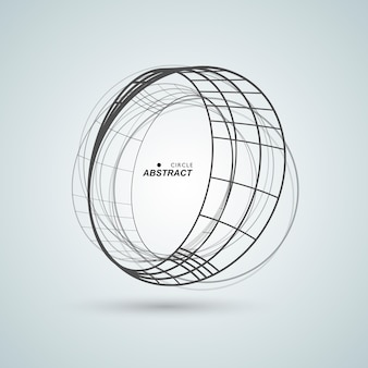 Abstract connect circle design background