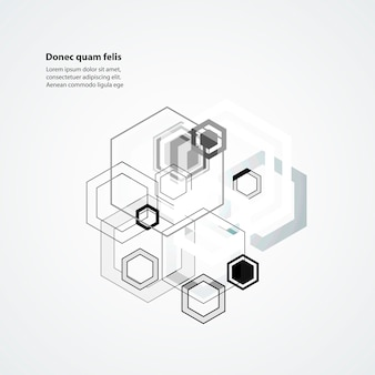 Abstract connect hexagonal structure background