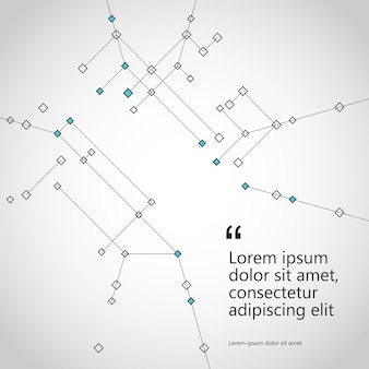 構造の多角形の背景をジオメトリの線と点で抽象的に接続します。