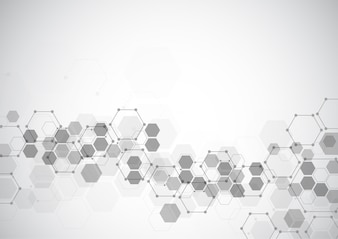 Abstract connecting dots and lines molecule background
