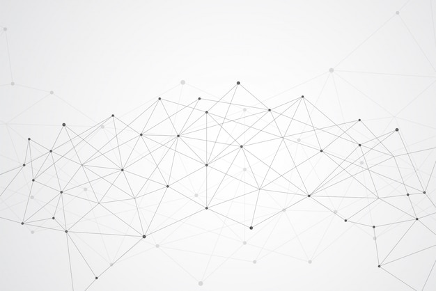 Abstract connecting dots and lines geometric background
