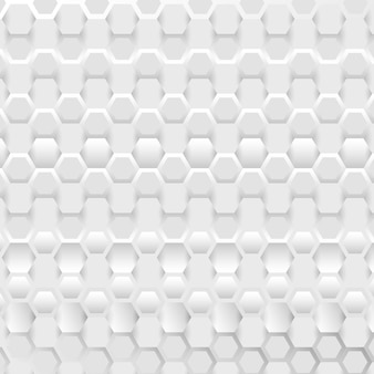 Abstract connection background with hexagonal white and grey pattern