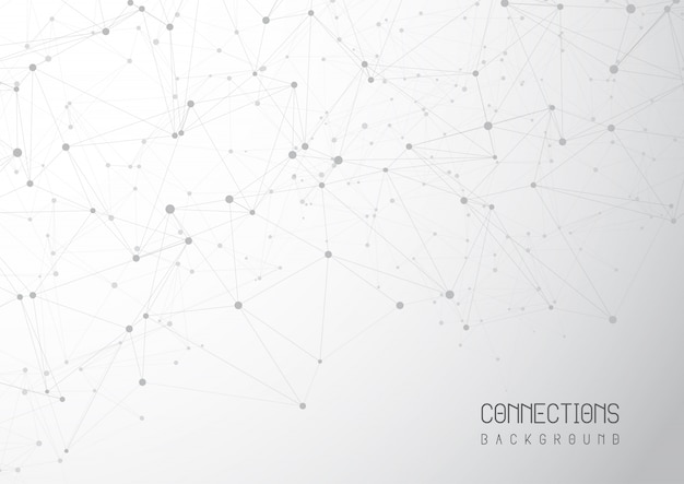 Abstract connections background
