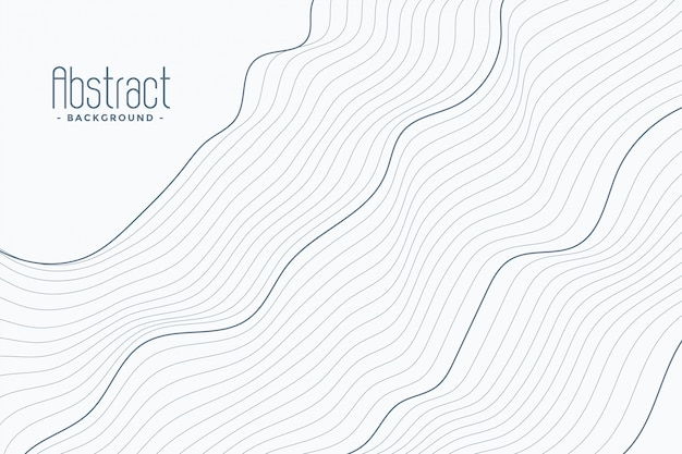 白い背景の上の抽象的な輪郭線