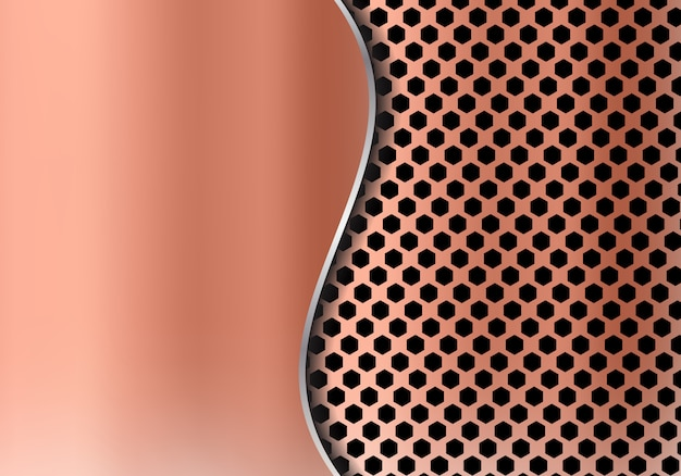 Abstract copper metal background