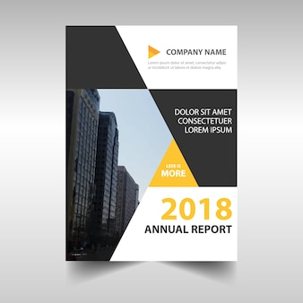 Abstract corporate annual report design