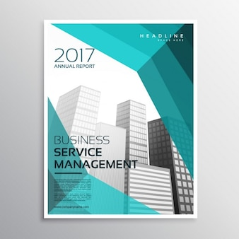 Abstract corporate brochure with skyscrapers