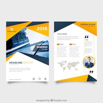 Brochure aziendale astratta Vettore gratuito
