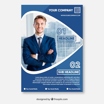 Abstract corporate brochure