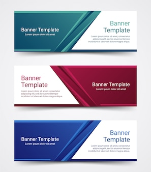 Abstract corporate business banner template set.