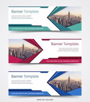 Abstract corporate business banner template set