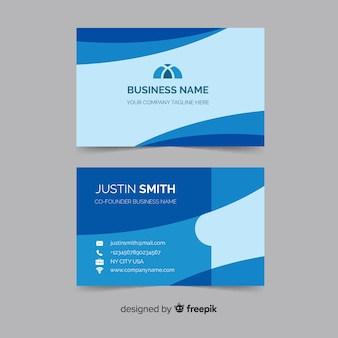 Abstract corporate business card template
