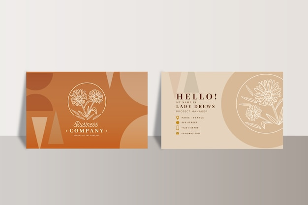 Abstract corporate business card