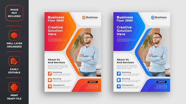 Abstract corporate business flyer design