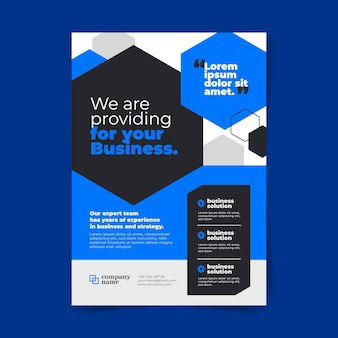 Abstract corporate business flyers