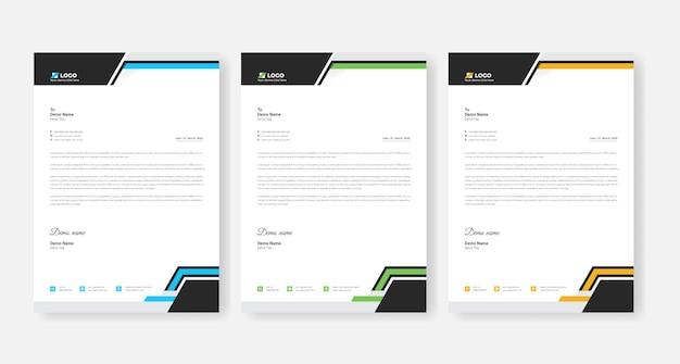 추상 기업 비즈니스 레터 헤드 디자인 서식 파일