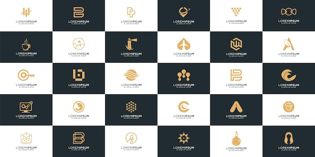 Abstract corporate business logo collection