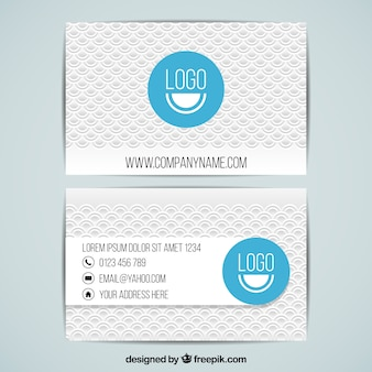 Abstract corporate card template