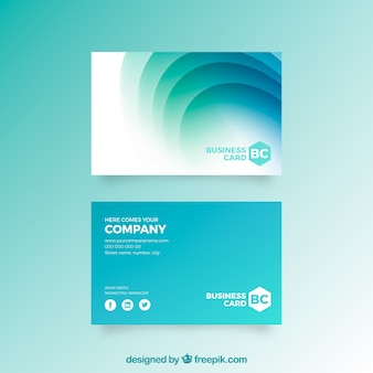 Abstract corporate card