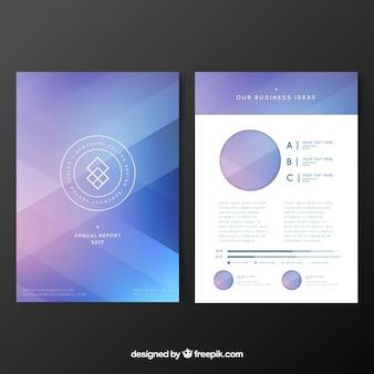 Абстрактная корпоративная элегантная брошюра
