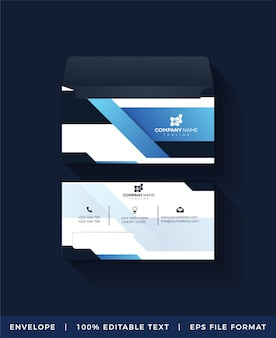 Abstract corporate envelope template