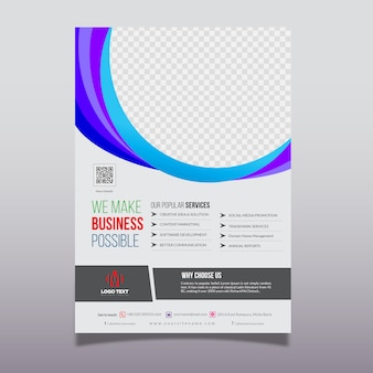 Abstract corporate flyer template