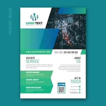 Abstract corporate flyer