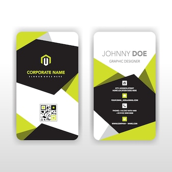 Abstract corporate illustrator card