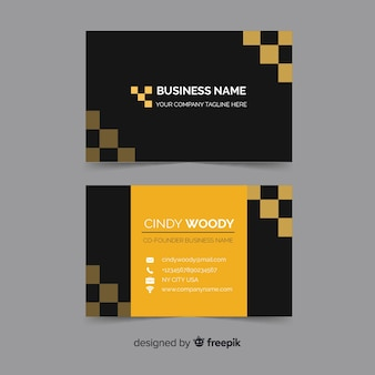 Abstract corporative business card