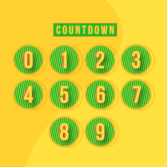 Abstract countdown numbers design