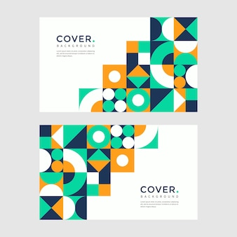 Abstract cover background with geometric and retro style