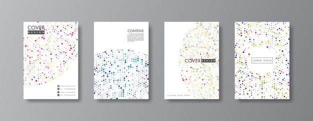 Abstract cover and brochure design.
