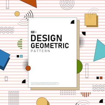 Abstract cover design of geometric pattern artwork background.