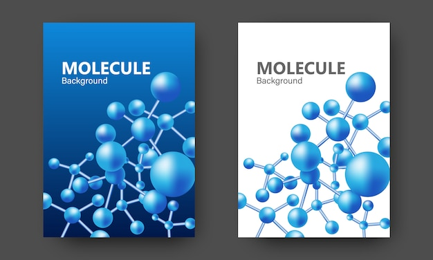 Abstract cover design with geometric connect molecule.