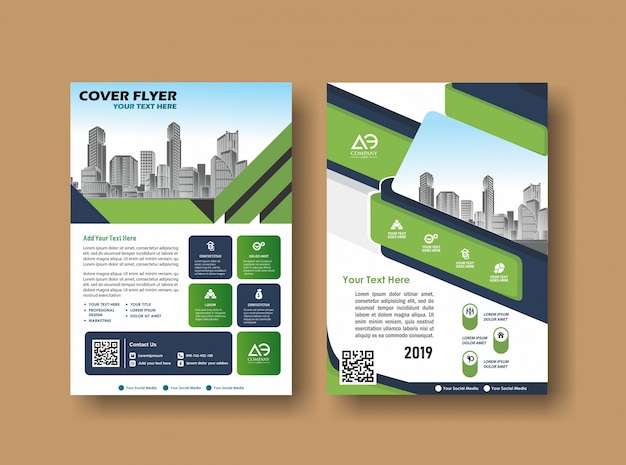 Abstract cover and layout for presentation and marketing