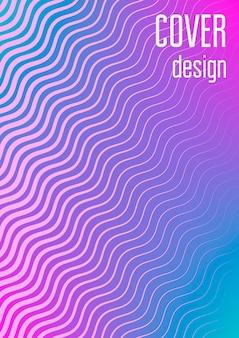 抽象的なカバー。ハーフトーンのグラデーションを持つ最小限のトレンディなベクトル。チラシ、ポスター、パンフレット、招待状の幾何学的な未来のテンプレート。ミニマルなカラフルなカバー。抽象eps10イラスト。