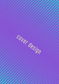 Абстрактная обложка. минимальный модный вектор с градиентами полутонов. геометрический шаблон будущего для флаера, плаката, брошюры и приглашения. минималистичная красочная обложка. абстрактная иллюстрация eps 10.