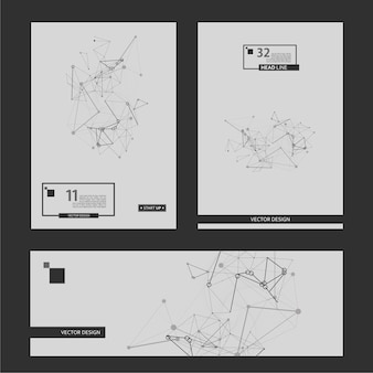 Abstract cover page on white backdrop. abstract background. vector design template. brochure creative design. white background. digital science technology concept. network connection structure.