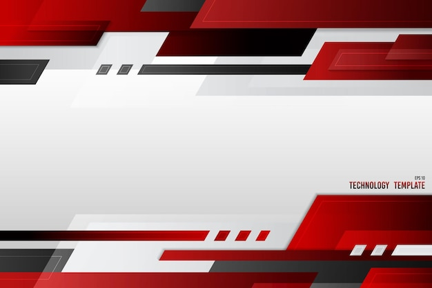 Abstract cover technology template design of gradient red black and white header. design for modern decorative copy space of text background.