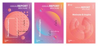 Abstract cover template poster set