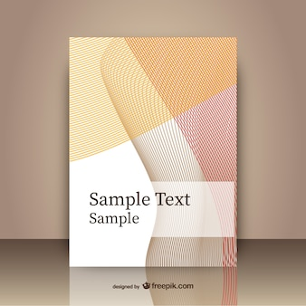 Abstract cover template