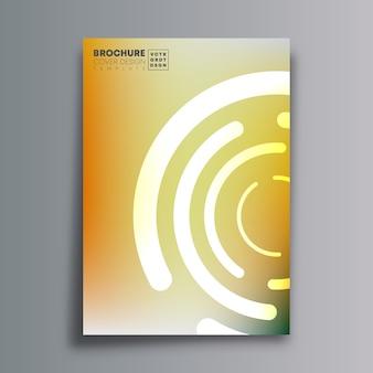 円形の黄金の形をした抽象的なカバー